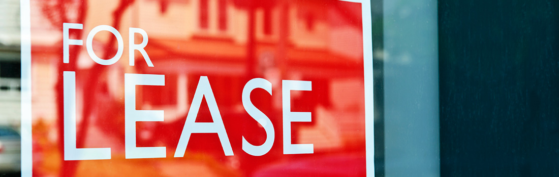 Stock photo - For lease sign