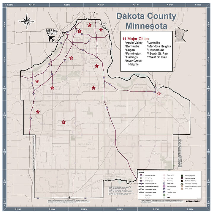 Dakota County Map for Economic Development Web Pages